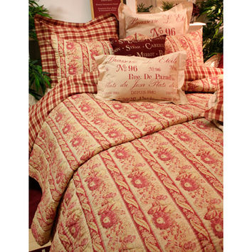 Vintage House by Park B. Smith LEFLQ3-CIN Cinnabar Full and Queen Quilt