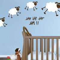 Nursery wall decals - Happy Sheepies