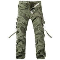 West Street Haku Trendy Men's Cargo Pants with Matching Belt