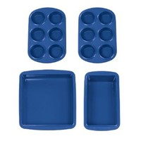 Silicone Solutions 4-Piece Baking Starter Set, Blue