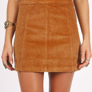 Your Own Way Corduroy Skirt