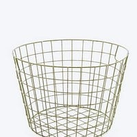 Large Metal Basket in Green - Urban Outfitters