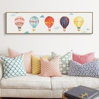 SURE LIFE Modern Hot Air Balloon Sky Poster Canvas Printing Paintings Wall Art Pictures for Bedroom Kids Room Home Decorations