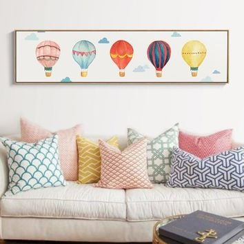 Best Hot Air Balloon Wall Art Products On Wanelo