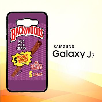 Backwoods Honey Berry Cigars L2091 Samsung Galaxy J7 Edition 2015 SM-J700 Case