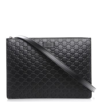 GUCCI Guccissima Signature Messenger Bag Black