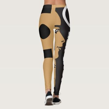 I LOVE YOU LEGGINGS BLACK AND GOLD FACE HAVIC ACD
