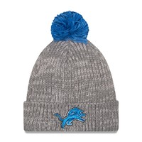 Detroit Lions New Era NFL Cuff Start Pom Knit Hat