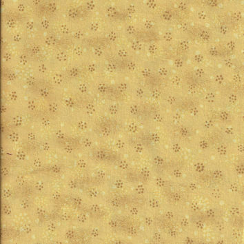 Three Fourth Yard Plus Cut of Yellow & Tan Cotton Quilting Fabric, by JoAnn's - Great Blender Fabric