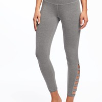 Go-Dry Cool High-Rise Lattice-Work Yoga Leggings for Women | Old Navy