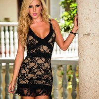 Hollywood Glamour Mini Dress