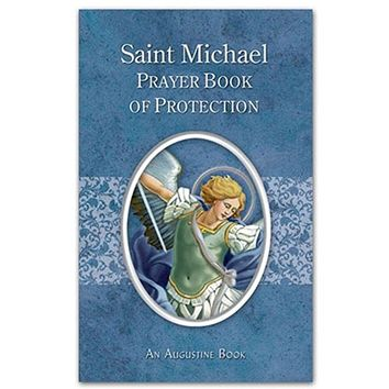 "St. Michael Prayer Book of Protection. Size: 3.125"" W x 5"" H."