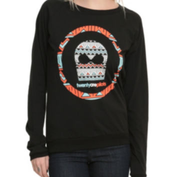 Twenty One Pilots Aztec Mask Girls Pullover Top
