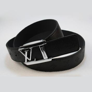 Louis Vuitton LV Woman Fashion Smooth Buckle Belt Leather Belt-24