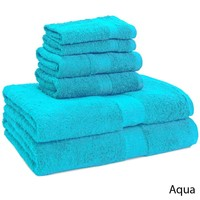 Luxury 100-percent Egyptian Cotton 6-Piece Towel Set - 2 Bath Towels - 2 Hand Towels - 2 Washcloths | Overstock.com Shopping - The Best Deals on Bath Towels