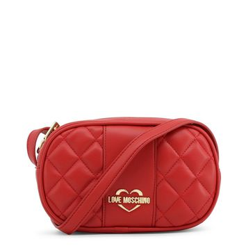 Love Moschino Red Quilted Crossbody Bag