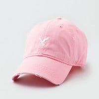AEO HEAVY WASHED EAGLE STRAP BACK, Light Pink