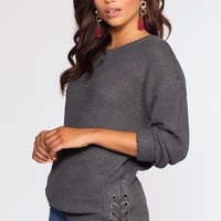Rylee Sweater - Heather Charcoal