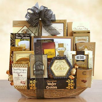Black Tie VIP Gold Mesh Gift Basket