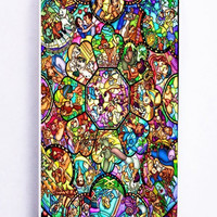 iPhone 5 Case - Rubber (TPU) Cover with All disney heroes stained glass Rubber Case Design