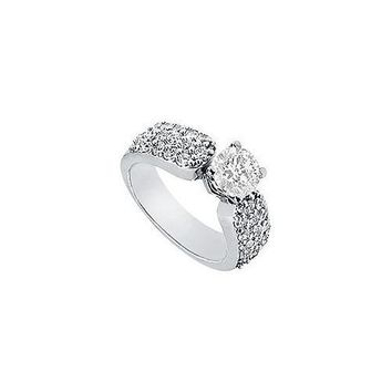 Diamond Engagement Ring : Platinum - 1.50 CT Diamonds