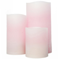 Cotton Candy Distressed Flameless Pillar Candle, Remote Ready