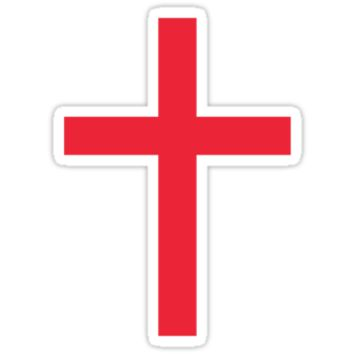 Red christian cross sticker by Mhea