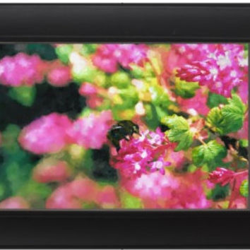 Impressionist Flowers Bee Garden Landscape Digital Painting signed art print A2 59 x 42 cm  nature
