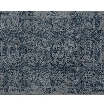 BOSWORTH PRINTED RUG - BLUE