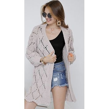 Mocha Rose Knit Cardigan