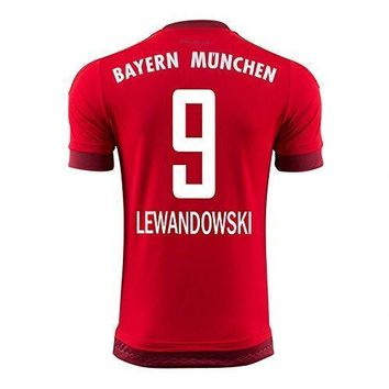 Lewandowski #9 Bayern Munich Home Soccer Jersey 2015-16 YOUTH.