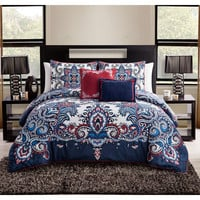 The Marnie Boho Bohemian Moroccan 5 PC Bedding SET