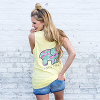 Lemon Verbena Tropical Florals Tank