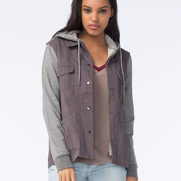 Element Hey La Womens Fleece Jacket Gray  In Sizes