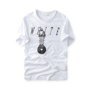 spbest Off-White Religious Music Godfather Bamboo T-Shirt