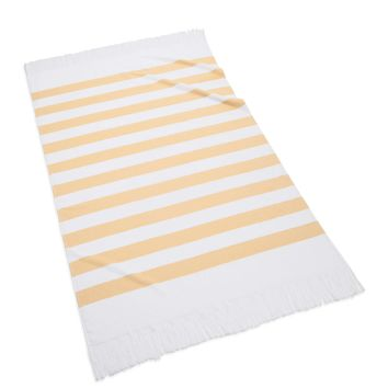 Sardinia Striped Beach Towel | Yellow