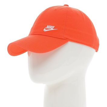 Nike Twill Heritage 86 Adjustable Womens Cap Black White Red Hat Washed Cotton