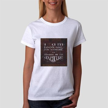 Classic Women Tshirt The Lord Of The Rings Quote Adventure Vintage