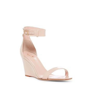 Kate Spade New York Women's Pale Blush Patent Ronia Wedge Sandal