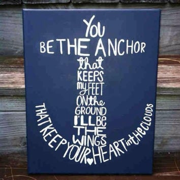 "Canvas Painting - Anchor - You Be the Anchor - 11"" x 14"""