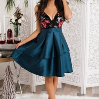 Bell Of The Ball Dress (Teal)