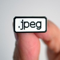 Jpeg Enamel Pin