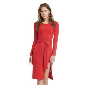 Winter Sexy Vintage Party Prom Dress Christmas Red Ladies One Piece Dress [9551818703]
