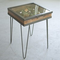 Display Table With Hinged Glass Top ~ Small