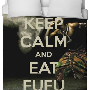 Keep Calm and Eat Fufu - Bed Comforter