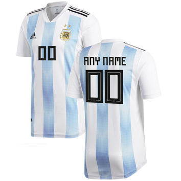 Argentina National Team 2018-2019 Home Blank Custom Jersey - White