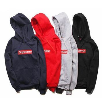 VONEJ8 Supreme Unisex Autumn Hoodies Zippers Long Sleeve Jacket