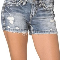Silver Jeans Aiko Mid Rise Shorts for Women L53838SJL212