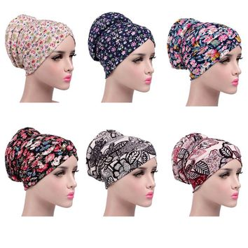 Women Cancer Chemo Hat Beanie Scarf Turban Head Wrap Cap