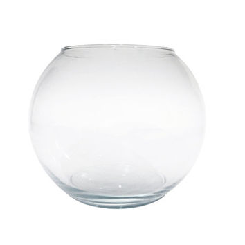 SPRING SALE Glass Terrarium Bowl / Clear, Transparent Bubble Shaped Container / Vintage Vase, Storage Jar / Unique Round Open Air Plant Disp
